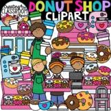 Donut Shop Clipart {Coffee Clipart}