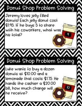 Donut Shop Digital Decimal Problem Solving
