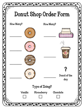 Donut Shop (Dramatic Play)
