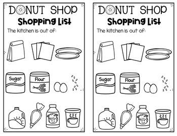 Donut Shop Dramatic Play Unit