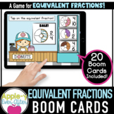 Donut Shop Equivalent Fractions | Boom Cards™ - Distance Learning
