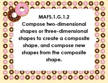 Donut Shop First Grade MAFS Common Board Signs