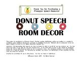 Donut Speech Room Decor