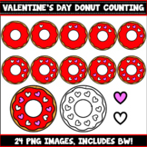 Donut Sprinkle Counting Clipart (Valentine's Day)
