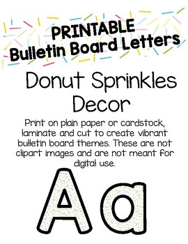 photograph about Bulletin Board Letters Printable identify Donut Sprinkles Bulletin Board Letters (Printable)