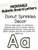 Donut Sprinkles Bulletin Board Letters (Printable)