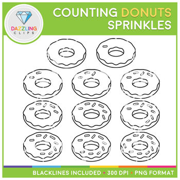 Donut Sprinkles Counting Clip Art