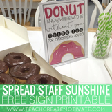 Donut Staff Appreciation Sign