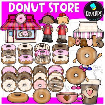 Donut Store Clip Art Bundle {Educlips Clipart}
