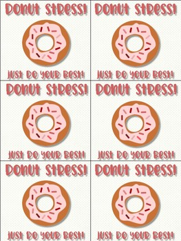 Donut Stress! Just Do Your Best! - Motivational Poster & Cards