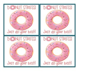 Donut Stress! Just do your best - Freebie!