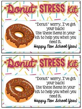 Donut Stress Kit Gift Tags