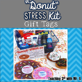 Donut Stress Kit Gift Tags
