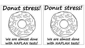Donut Stress - Reward card - NAPLAN - Tests