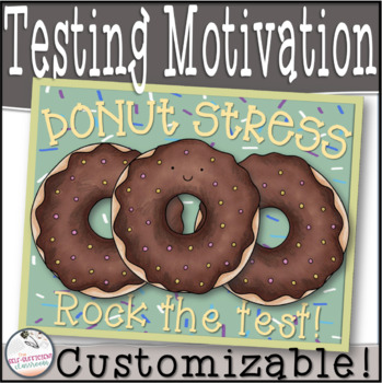 Donut Stress Rock The Test- Testing Motivational Slip