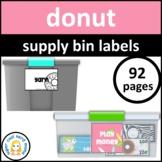 Donut Supply Bin Labels