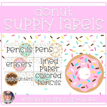 Donut Supply Organizational Labels