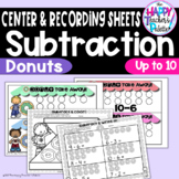 Donut Take Away! Subtraction up to 10 ~Perfect for Mini-Erasers!~