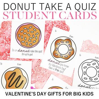 Donut Take a Quiz Valentines