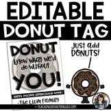 Donut Teacher Appreciation Tags Free