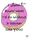 Donut Teacher Appreciation tag