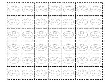 Ten Frame and worksheets - Donut theme