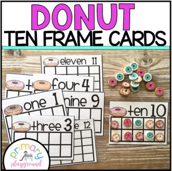 Donut Ten Frame Cards 1-20