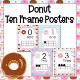 Donut Ten Frame Posters - 0 to 20