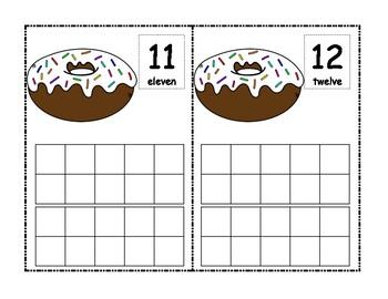 Donut Ten Frame using mini erasers #1-20