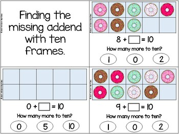 Donut Ten Frames - Bundle of 4 different activities