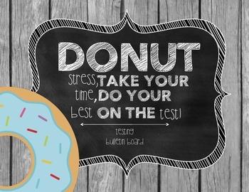 Donut Testing Bulletin Board