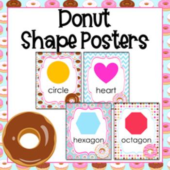 Donut Theme 2D Shape Posters