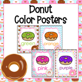 Donut Theme Color Posters