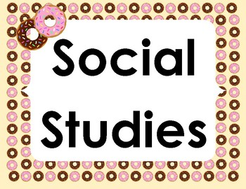 Donut Theme Common Board Subject Labels