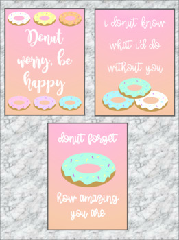 Donut Theme Motivational Posters