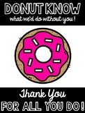 Donut Theme - Teacher/Staff Appreciation Pack