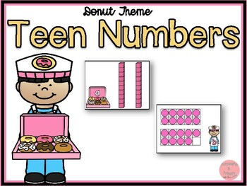 Donut Theme Teen Numbers