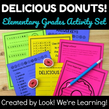 Donut Themed Activities: Delicious Donuts ELA Activity Set
