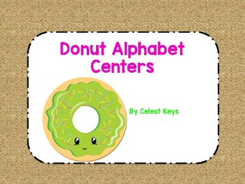 Donut Themed Alphabet Centers