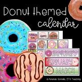 Donut Themed Calendar