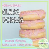 Donut Lovin' Classroom Forms