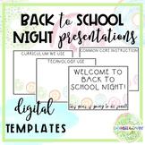 Donut Themed DIGITAL Back to School Night Presentation