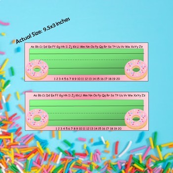 Donut-Themed Desk Name Tags