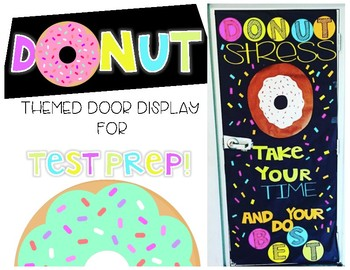 Donut Themed Door Display for Test Prep Season