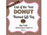 Donut Themed Gift Tag {Printable gift tag FREEBIE}