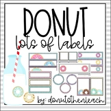 Donut Themed Labels - Editable!