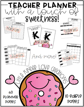 Donut Themed Planner