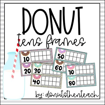 Donut Themed Tens Frames for Counting Days in School