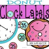 Donut Time Clock Labels: Donut Classroom Theme Decor