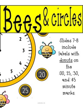 Bee Clock Labels: Perfect for Telling Time! Bee Classroom Theme Decor